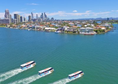 Three Gold Coast Duck Buses