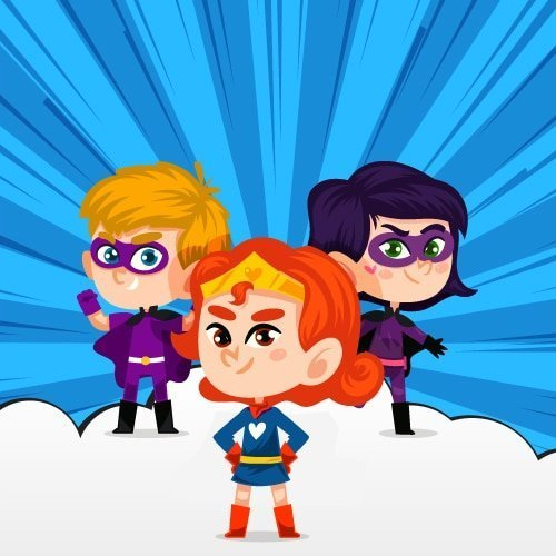 Superhero birthday image