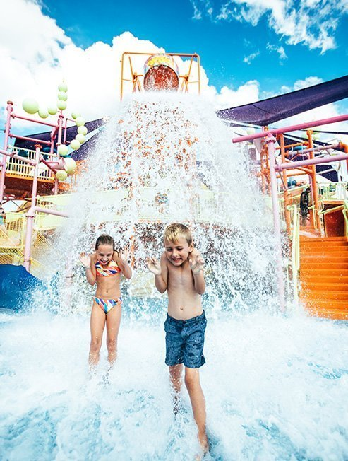boy & girl having fun at a Gold Coast water park