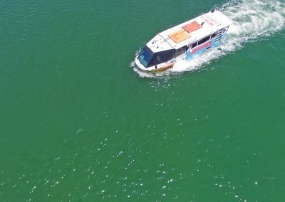 Birds eye view of River Cruise Surfers Paradise