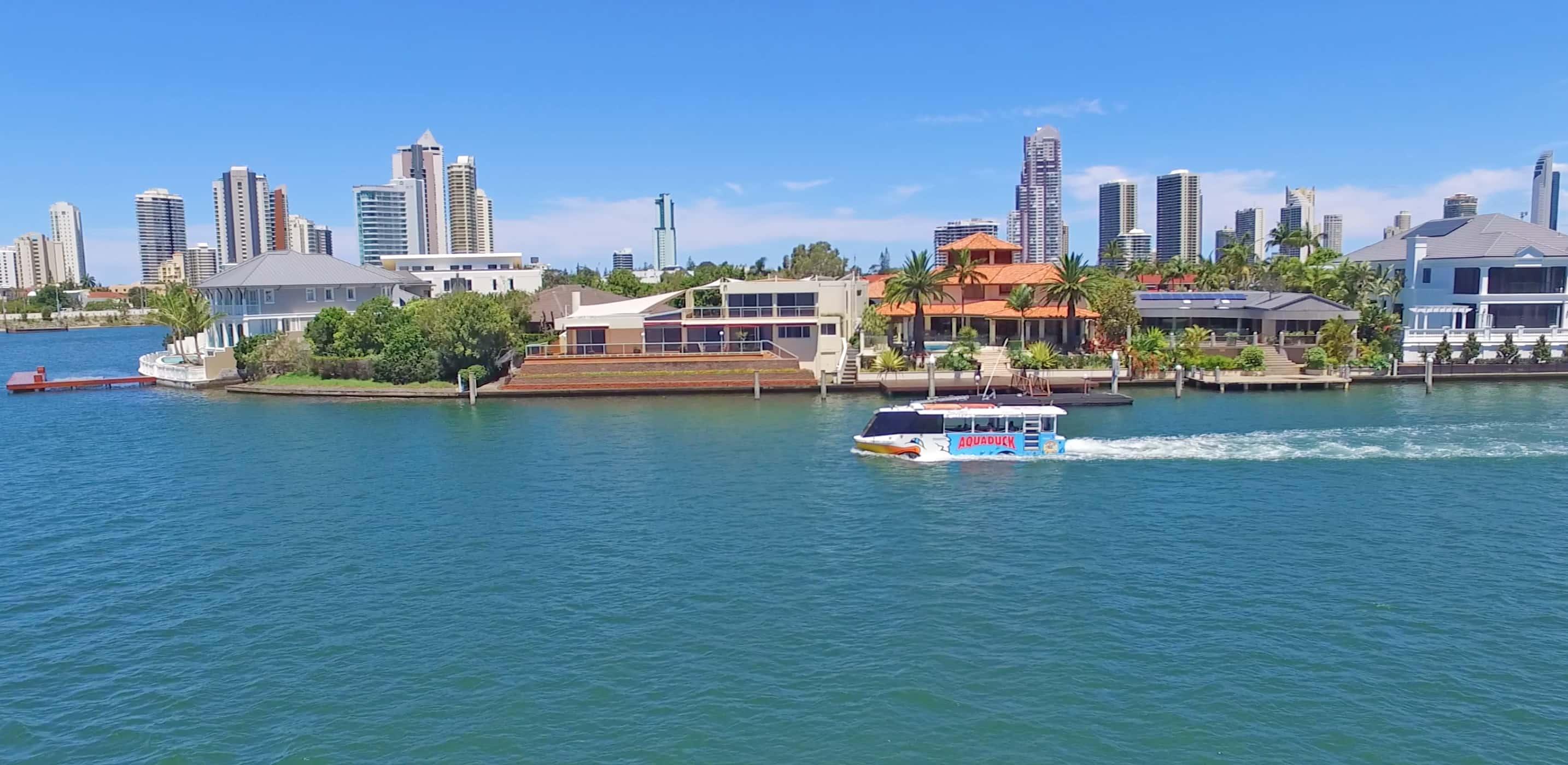 Aqua Duck on River