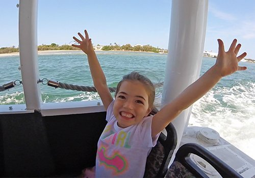 Happy Girl on Aquaduck