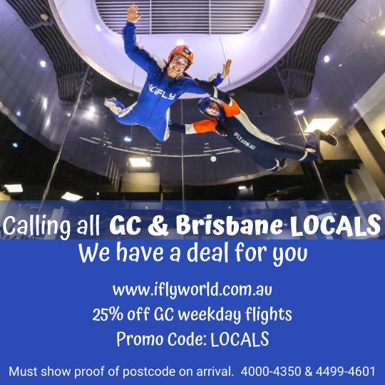 iFLY Gold Coast Locals Discount