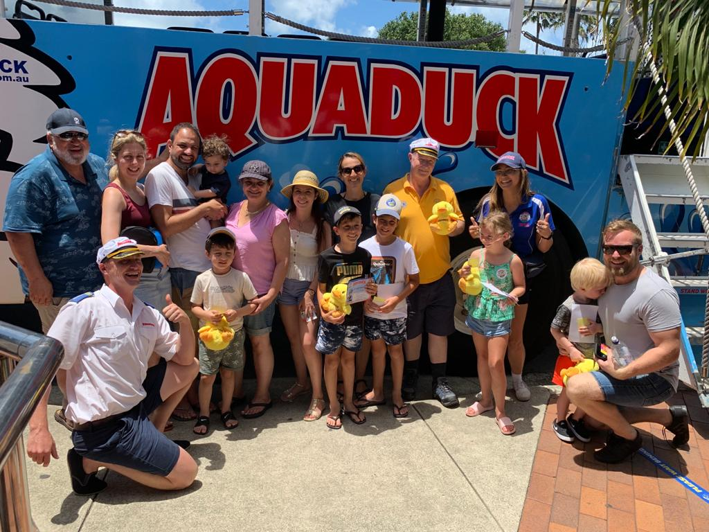 Lions Club Members on the Aquaduck