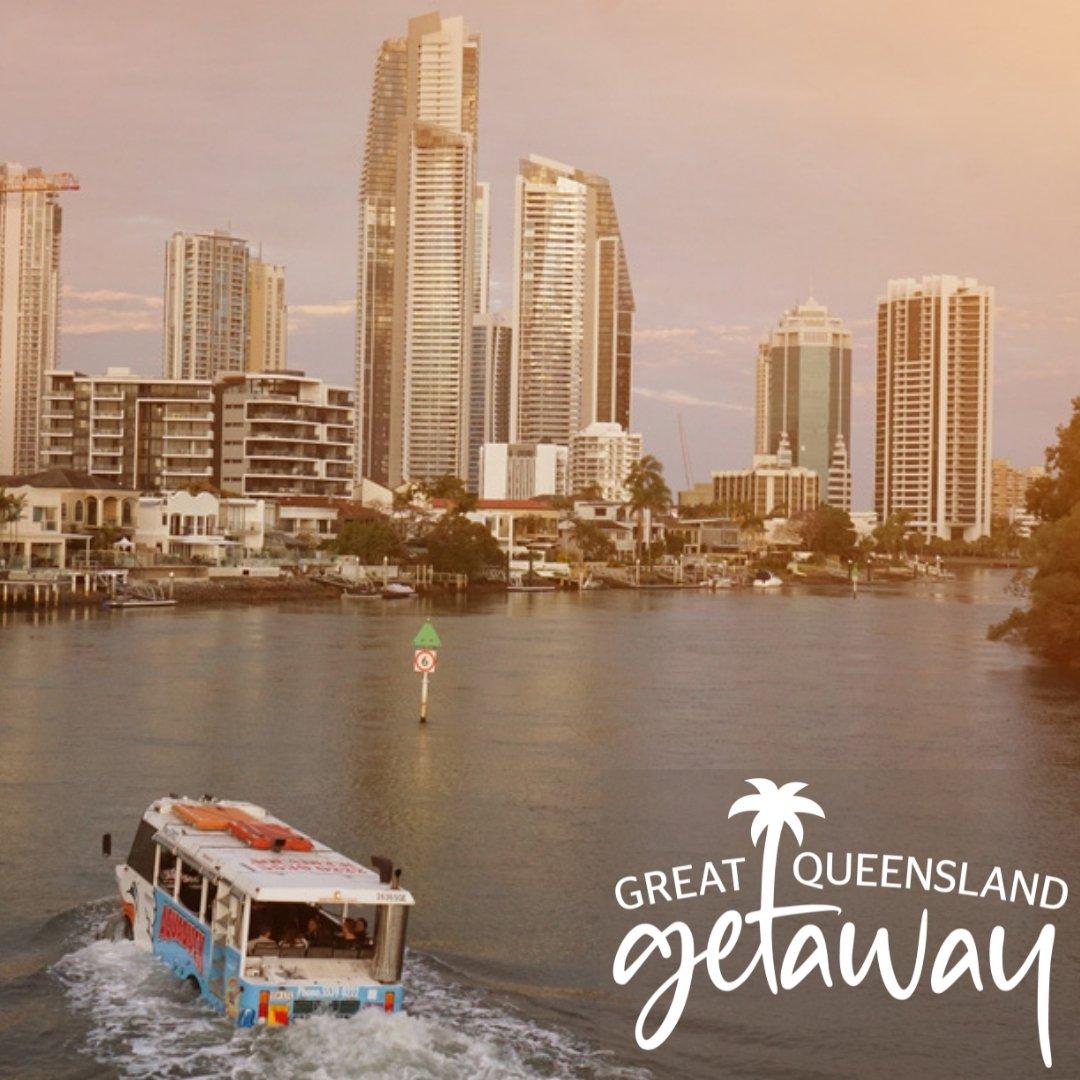 Great Qld Getaway Gold Coast Aquaduck Secrets Sunset Cruise